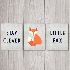 75% OFF SALE Fox Nursery Decor (Set of 3) - 8x10 Stay Clever Little Fox, Nursery Art, Nursery Decor, Woodland Nursery, Nursery Wall Decor by DreamBigPrintables on Etsy https://www.etsy.com/uk/listing/220005017/75-off-sale-fox-nursery-decor-set-of-3