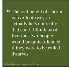 If you ever called me a dwarf because I'm 5'0 I would throat punch you so hard
