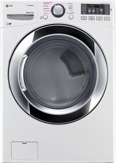 LG DLEX3370W7.4 Cu. Ft. White Stackable With Steam Cycle Electric Dryer - Energy Star * More info could be found at the image url.