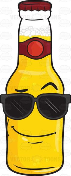 65865d666b Cool Looking Bottle Of Beer Wearing Sunglasses Emoji  adultdrink  beer   beerbelowzero  beerbottle