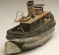 Tugboat model is a folk art treasure found in Maryland.