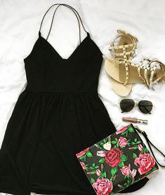 Little Black Dress with pretty accessories #ShopStyle #shopthelook #SpringStyle #SummerStyle #MyShopStyle #BirthdayParty #BeachVacation #WeekendLook #DateNight #GirlsNightOut #OOTD