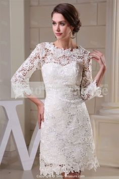 Wholesale and Retail Wonderful Lace Zippered Embellished Wedding Dress - the Best Wedding Dresses Wholesale and Retail Online Store Mini Wedding Dresses, Short Lace Wedding Dress, Wedding Dress Pictures, Wedding Dress Styles, Bridal Dresses, Dress Lace, Robes D'occasion, Special Occasion Dresses, Evening Dresses