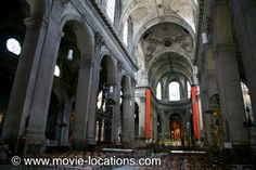 The Da Vinci Code location: Silas investigates the 'Rose Line': the real interior of the Church of St Sulpice, Paris
