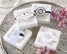 Personalized Scented Soap (Set of Bridal Shower favors Wedding Favours Bridesmaids, Soap Wedding Favors, Soap Favors, Unique Wedding Favors, Bridal Shower Favors, Wedding Ideas, Wedding Sparklers, Wedding Planning, Wedding Invitations