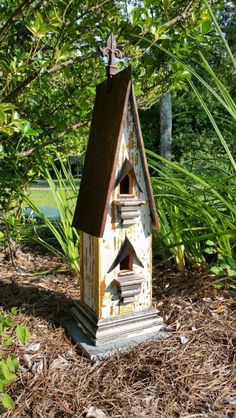 1800's front parlor baseboard birdhouse.