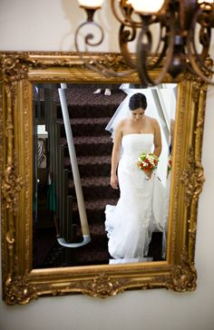 Great Mirror Reflection Shot For Brides To Get On The Wedding Day Taken At