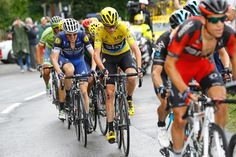 Richie Porte attacks Chris Froome on the final climb.