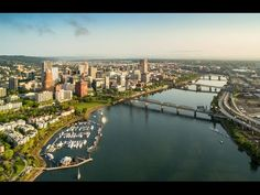 This Beautiful Drone Footage Of Portland Shows Views of Portland and a Some of Its Twelve Bridges