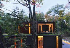 O plissado Casa em Wisconsin, EUA, projetado por Johnsen Schmaling Architects