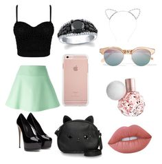 """Ariana granda inspired"" by haileycardona on Polyvore featuring RED Valentino, Loungefly, Lime Crime, Le Specs and Lipsy"