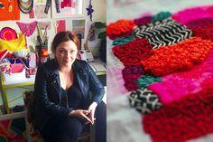Studio of textile artist Liz Payne. Photo: Lisa Tilse for We Are Scout