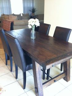 Benchright Farmhouse Table | Do It Yourself Home Projects from Ana White