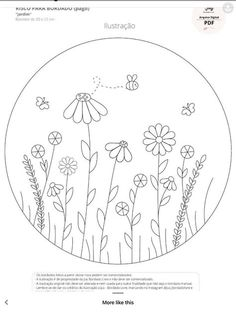 Hand Embroidery Patterns Flowers, Embroidery Hoop Crafts, Hand Embroidery Projects, Border Embroidery Designs, Hand Embroidery Videos, Embroidery Flowers Pattern, Learn Embroidery, Drawing, Link