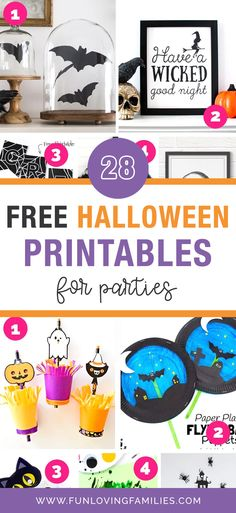 Save money this Halloween by downloading these Halloween printables that you can use for parties, decorating, and fun Halloween kids crafts. #halloweenprintables #halloween #halloweenactivities #halloweenideas #halloweenforkids #kidshalloween Halloween Candy Bar, Halloween Party Favors, Halloween Activities For Kids, Halloween Prints, Halloween Crafts For Kids, Halloween Fun, Family Activities, Preschool Activities, Kids Crafts