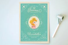 Princess Tea Children's Birthday Party Invitations by Lori Wemple at minted.com