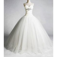simple, but still a beautiful princess wedding gown.
