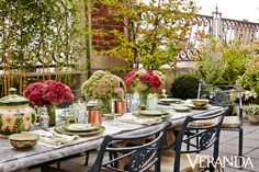 "Mario Lopez-Cordero,""The Perfect Setting For An Alfresco Lunch,"" Veranda (22 April 2015). Michael S. Smith's Manhattan terrace makes an ideal perch for a breezy afternoon get-together."