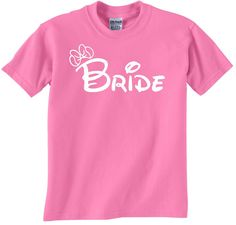 Bride Disney wedding themed tees for your bachelorette by JedaTees, $14.95