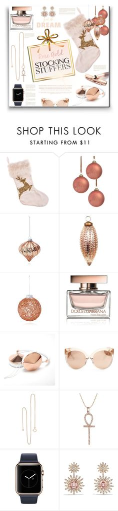 """Dream Stocking Stuffers"" by fassionista ❤ liked on Polyvore featuring Decoris, Bloomingdale's, Lazy Days, Dolce&Gabbana, Frontgate, Linda Farrow, Fob Paris, Sydney Evan, Fountain and David Yurman"