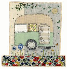 caravan design 358810295297246136 - Just a quick post to share this new caravan design I've been working on! I hope everyone has some exciting Jubilee celebrations this week… Source by moniquejullien Freehand Machine Embroidery, Free Motion Embroidery, Free Machine Embroidery, Embroidery Applique, Applique Patterns, Applique Designs, Embroidery Designs, Fabric Cards, Fabric Postcards