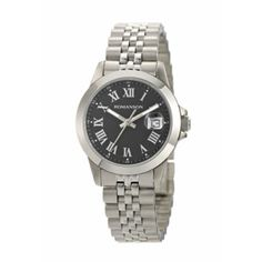 4f038b32b44ff8 Buy online #Romanson Swiss Quartz #Women Black Dial Metal Strap #Watch for  Rs