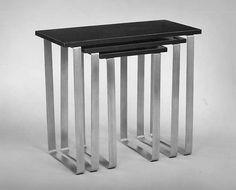 Donald Deskey | Nesting tables Designer: Donald Deskey | ca. 1927 | Aluminum and formica