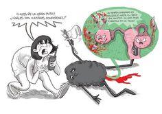 """#COMIC #ILUSTRACIO #HUMOR #CROWDFUNDING - 1º Edición del libro de las aventuras de Ana Belén y Coño titulado """"Somos pobres en euros, pero ricos en pelos de Coño"""". Un libro sobre sexualidad femenina ilustrado en clave de humor, honesto, natural, desvergonzado, gamberro... ¡y lleno de pelos de Coño! Crowdfunding Verkami: http://www.verkami.com/projects/8745-libro-de-las-aventuras-de-ana-belen-y-cono"""