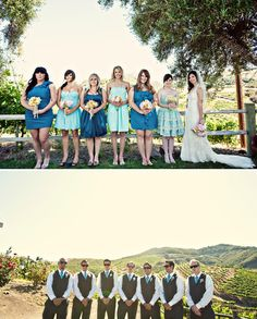 bridemaids - love these colours!