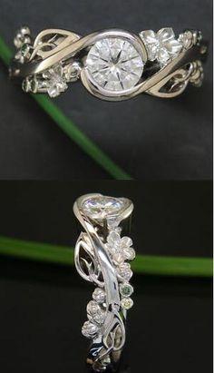 vintage art deco diamond engagement ring for her