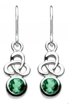 Heritage Women's Sterling Silver Celtic Trinity Drops Earrings