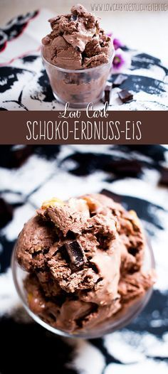 Low Carb Schoko-Erdnuss-Eis (ohne Eismaschine) - Düşük karbonhidrat yemekleri - Las recetas más prácticas y fáciles Low Carb Sweets, Low Carb Desserts, Low Carb Recipes, Yogurt Recipes, Beef Recipes, Chicken Recipes, Low Carb Köstlichkeiten, Low Carb Pizza, Low Carb Ice Cream