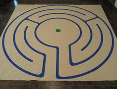 Story Path portable labyrinth -- especially designed for children