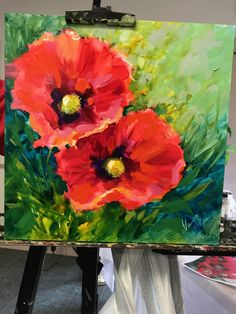 Poppy Duo von Nancy Medina - Secrets of being well-groomed Oil Painting Flowers, Abstract Flowers, Abstract Flower Paintings, Peace Art, Guache, Paintings I Love, Acrylic Art, Flower Art, Cactus Flower