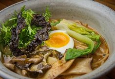 Vegetable miso ramen with Mendocino nori and maitake mushrooms at Ramen Shop in Oakland