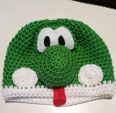 Yoshi crochet hat