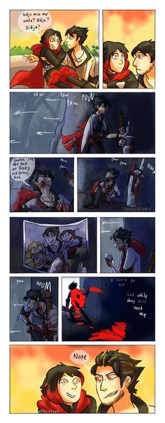 Qrow is their Uncle but he acts like a Godfather<< * CRIES * he is a better father then the real one. Rwby Anime, Rwby Fanart, Rwby Qrow, Steven Universe, Qrow Branwen, Red Like Roses, Rwby Memes, Rwby Characters, Rwby Comic