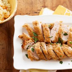 Enjoy a delicious turkey dinner in no time just by using your broiler. Creamy mayo and Parmesan cheese form the crispy, crumbly coating.