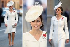 In the Alexander McQueen coat dress, accessorized with a Sylvia Fletcher hat and Anne Grand-Clément shoes, at the Last Post ceremony marking the Battle of Passchendaele in Ypres, Belgium, on July Looks Kate Middleton, Princess Kate, Coat Dress, Royal Fashion, Duchess Of Cambridge, Her Style, Alexander Mcqueen, Ideias Fashion, Celebrity Style