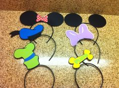 Mickey Mouse clubhouse party hats / headbands / favors by TheCandyBarn on Etsy https://www.etsy.com/listing/160778771/mickey-mouse-clubhouse-party-hats