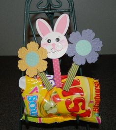 Spring Punch Art Clothespin Clips cute idea with clothespins