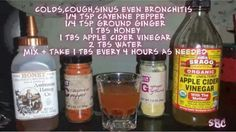 Coughs, colds, sinus, bronchitis remedy