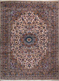 """Kashan Persian Rug, Buy Handmade Kashan Persian Rug 8' 6"""" x 11' 10"""", Authentic Persian Rug"""