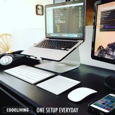 Super clean and simple setup. --- #dev #developer #code #coding #coder #hack #hacked #setup #clean #desk  #inspiration #design #battlestation #webdesign #hacker #macbook #mac #apple #startup #mobiledev #goals #goalsetting