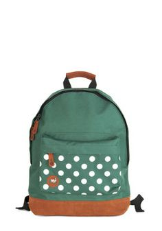 All Across Campus Backpack in Green Dots, #ModCloth
