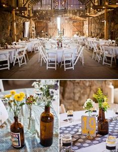 Rustic Barn wedding reception #rusticweddings #brides