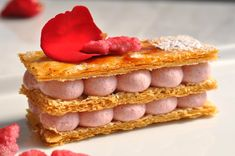 Raspberry Rose Mille-Feuille- Thousand leaves (Napoleon)