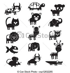 Vector - wildlife and farm animals icons - stock illustration, royalty free illustrations, stock clip art icon, stock clipart icons, logo, line art, EPS picture, pictures, graphic, graphics, drawing, drawings, vector image, artwork, EPS vector art