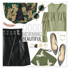 """G.morning Beautiful"" by teoecar ❤ liked on Polyvore featuring Oleg Cassini, Korres and Topshop"