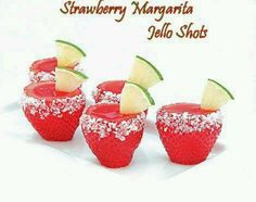 Strawberry Margarita Jello Shots... Hmmm